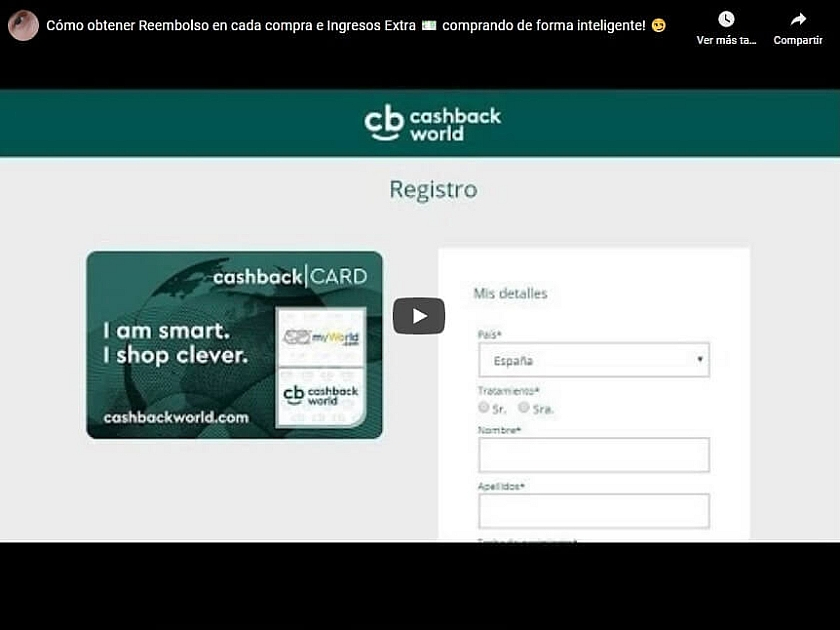 Cashback World Registro